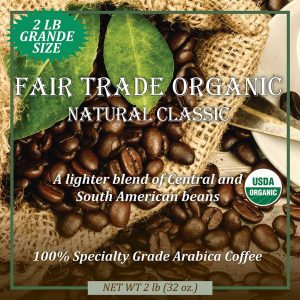 Fair Trade Organic Natural Classic Grande Size